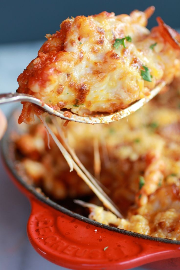 Skillet Baked Pasta with Gouda Cheese