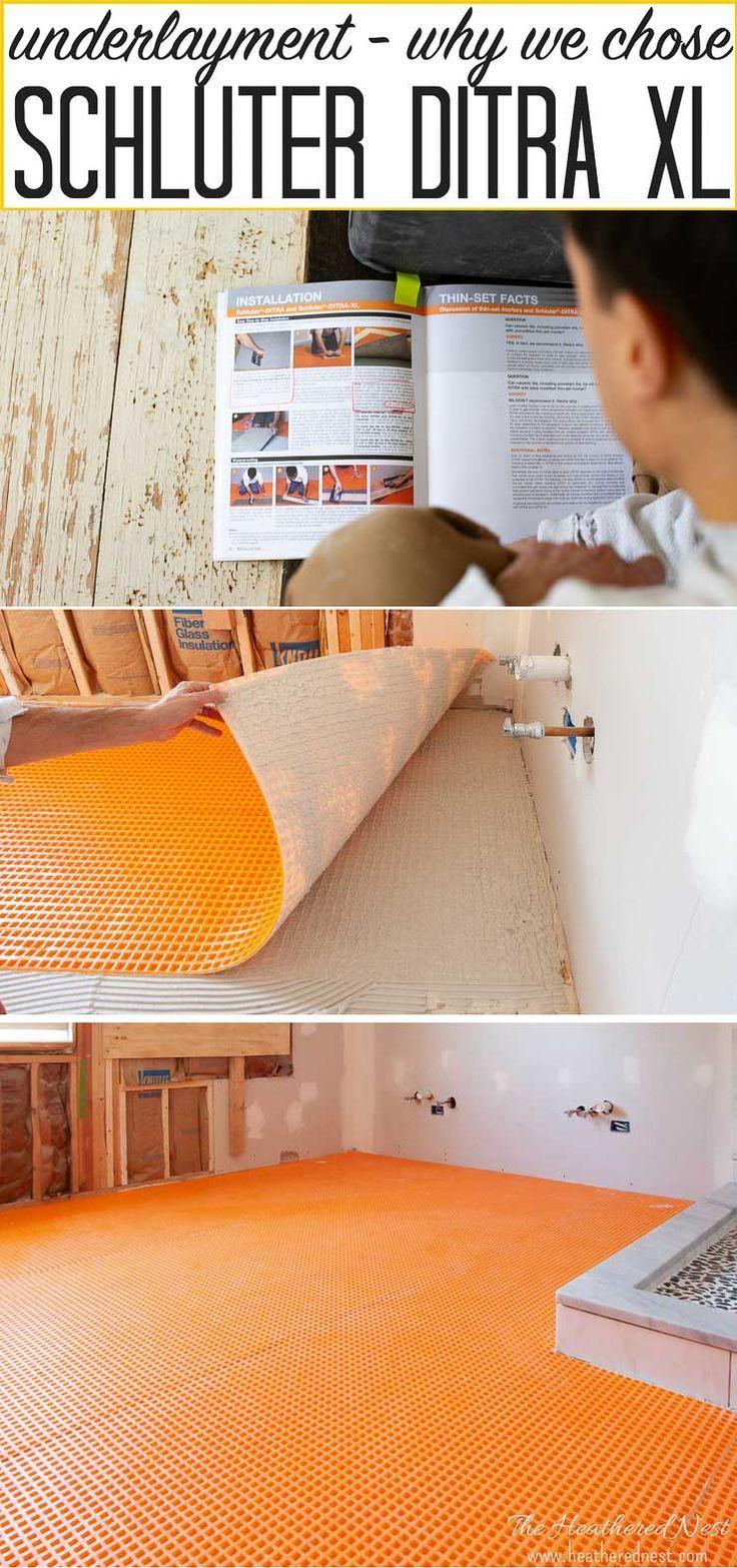 Why We Chose Schluter Ditra Xl Tile Underlayment Underlayment Installing Tile Floor Flooring