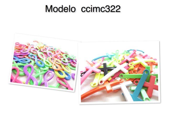 Conector modelo ccimc322, medidas infinito 2.2cm, cruz 3cm, paquete c/20 piezas $80,