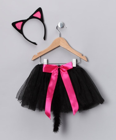 Time for dress up! Take a look at this Princess Expressions Black Kitty Cat Dress-Up Set by Princess Expressions on #zulily today!