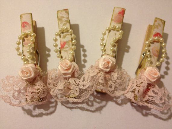 Shabby Chic Decorative Clothes Pins