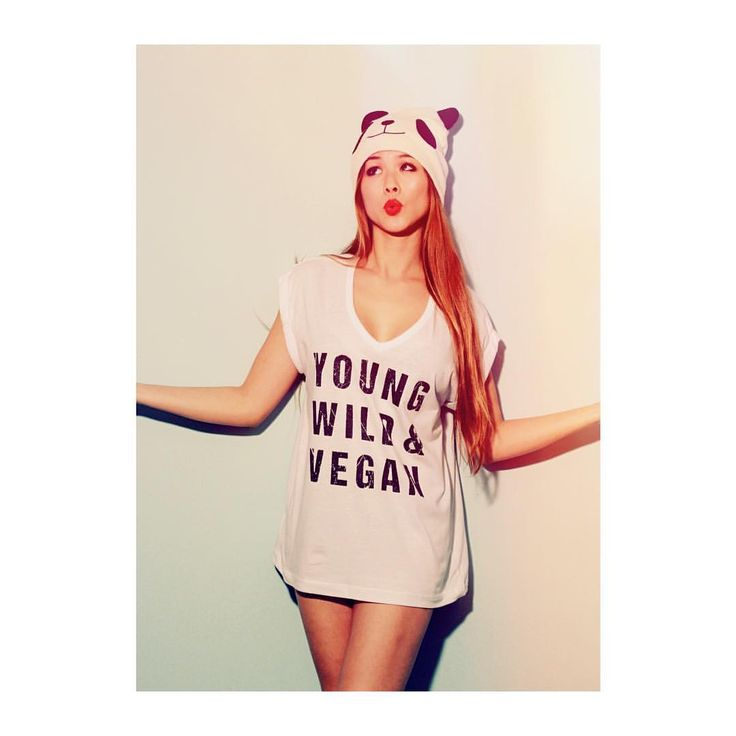 """Young, wild, and Vegan shirt by bazaar de luxe """"I woke up like this Ok, not exactly but I did wake up in this tee✌️ #bazaardeluxe"""""""