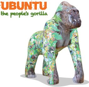 The finished Ubuntu for the Guildhall Shopping Exeter