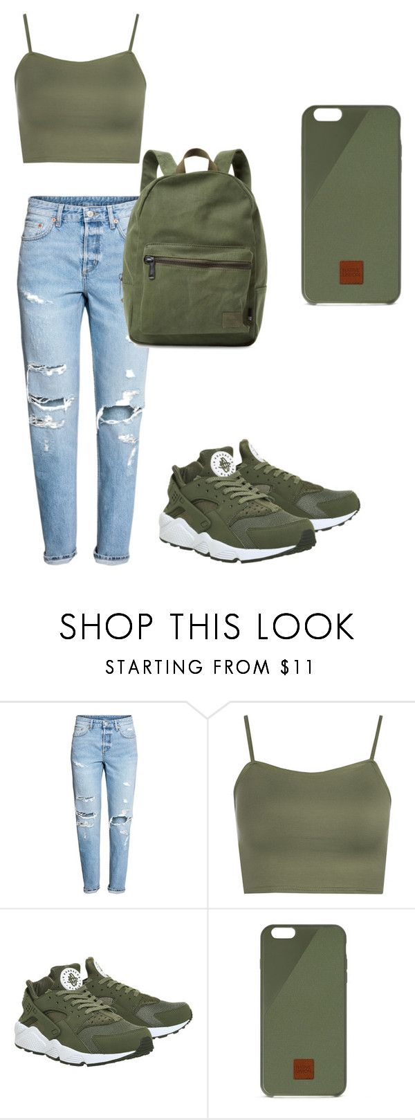 """""""Untitled #17"""" by zaniriyanixon on Polyvore featuring WearAll, NIKE, Native Union and Herschel Supply Co."""