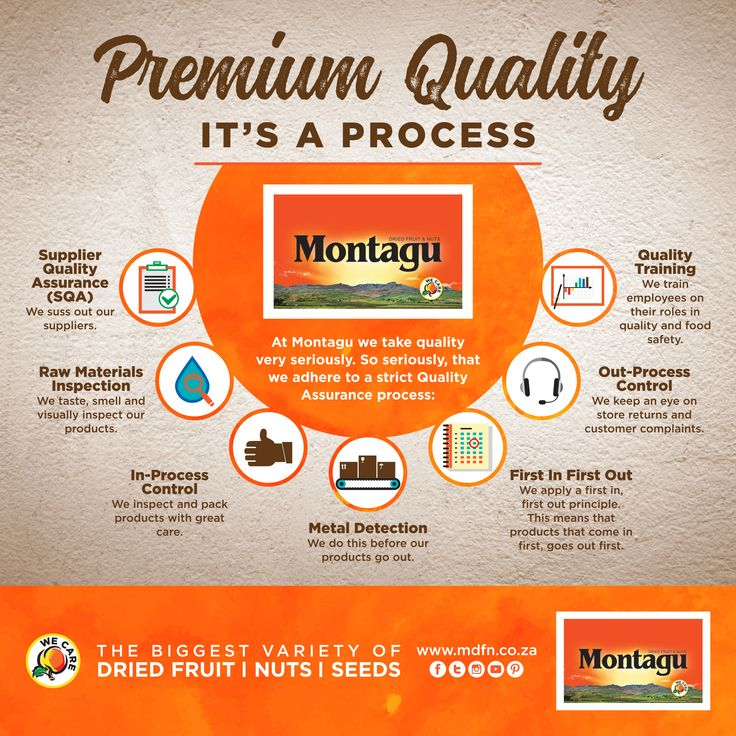 t Montagu, our entire business model is centred on the concept of premium quality. When you visit our stores, you'll find our shelves stocked with the finest quality dried fruit, nut and seed products from all around the world. When it comes to quality, we keep our promises.