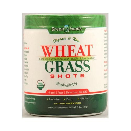 Enjoy Green Foods Organic and Raw Wheat Grass Shots - 5.3 oz every day at these…