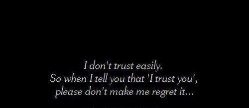 TRUST.....................fragile.....................trust