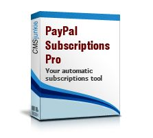 Joomla Paypal Subscriptions