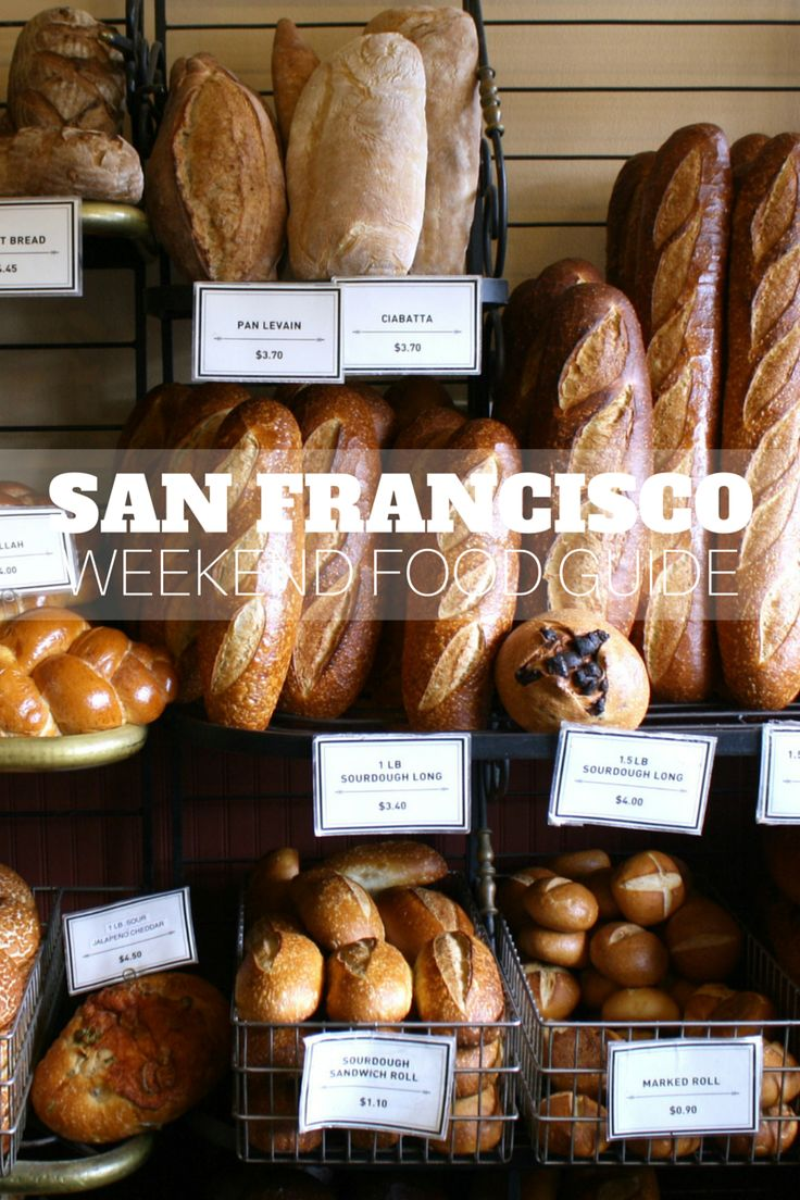 A sampling of San Francisco food and the places you should put on your list to visit.