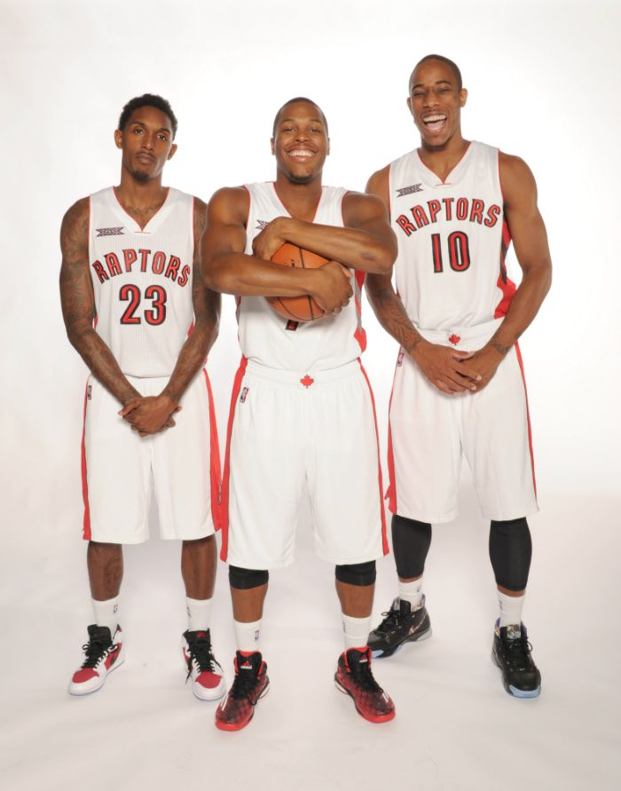 A look at the potent #Raptors backcourt trio of Lou Williams, Kyle Lowry and DeMar DeRozan.