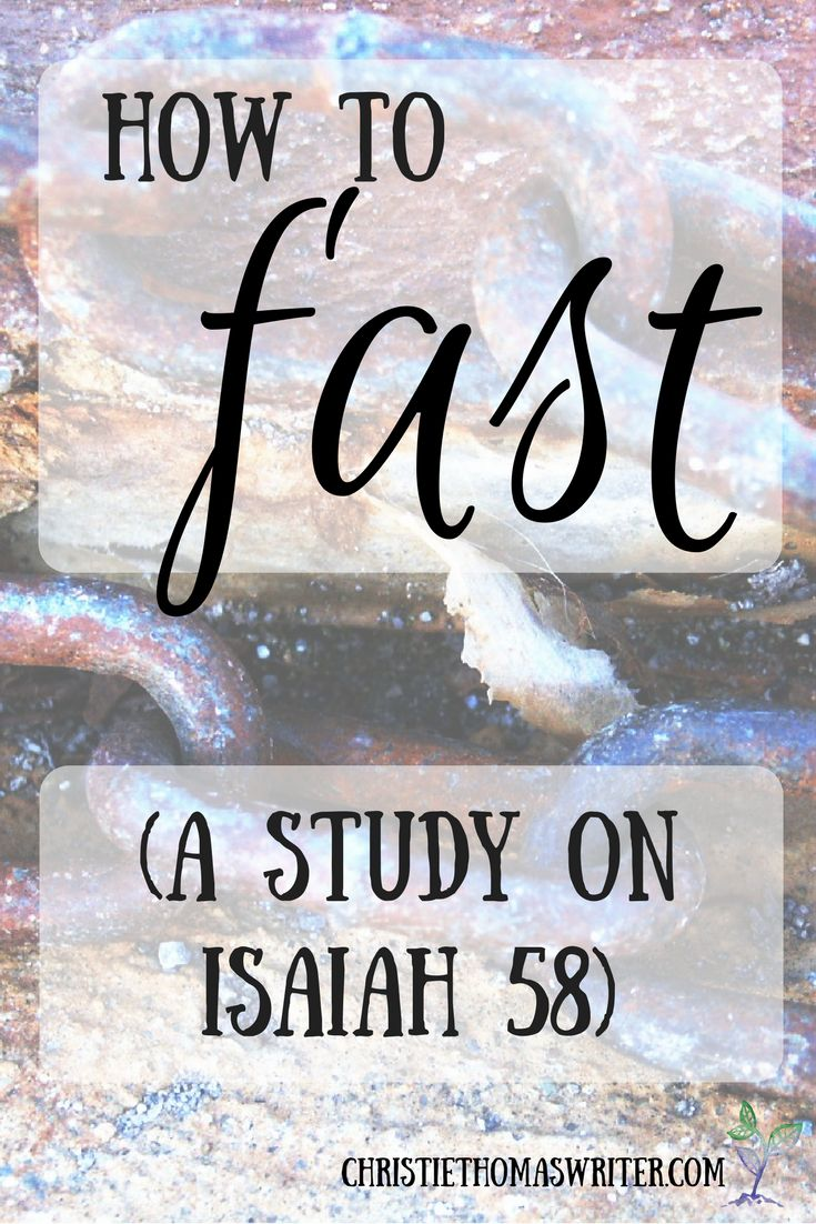 A study on Isaiah 58; the meaning of true fasting via @cthomaswriter