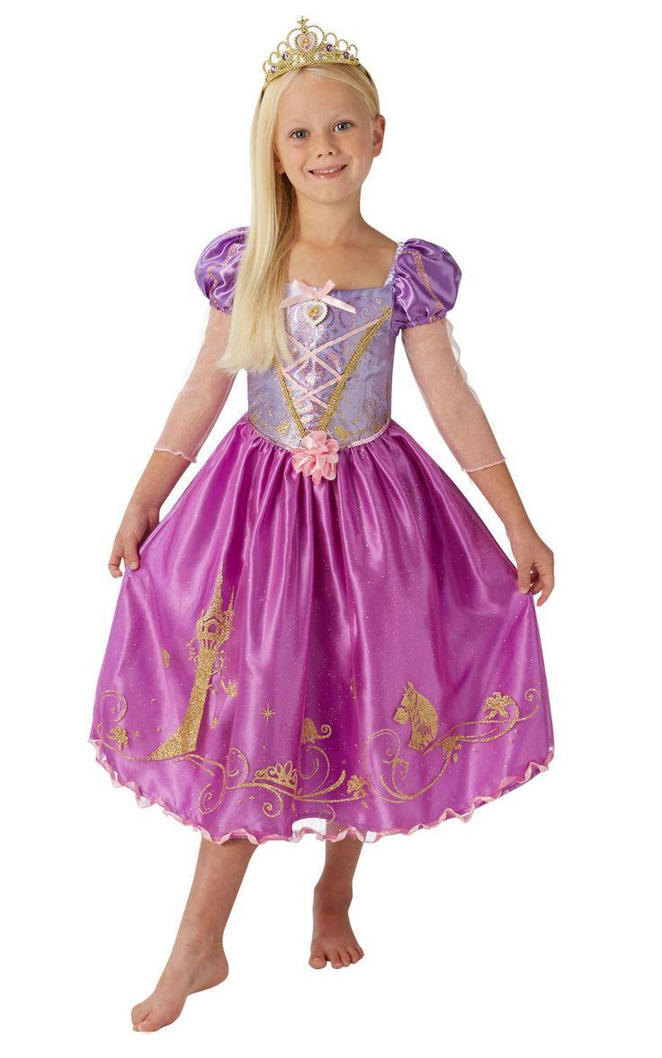 Tähkäpää Deluxe. Tässä kauniin värisessä prinsessamekossa Tähkäpään tarinasta tutut elementit kiertävät helman kuvioinnissa. Lisäksi deluxe-luokkaisen naamiaisasun koristelu ja tyyli on viimeistelty tyyliin, joka kelpaa hienoimmallekin prinsessalle.