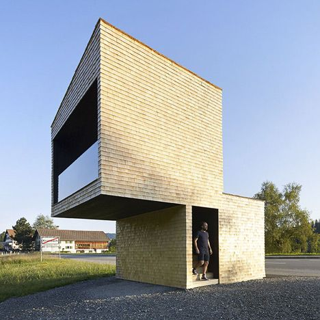 Kressbad bus stop by Rintala Eggertsson Architects