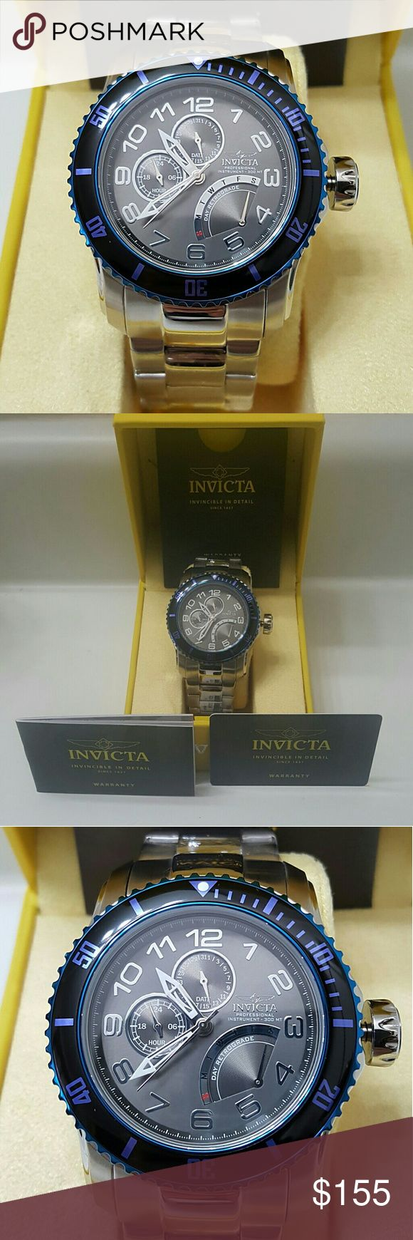 Wednesday sale,$1,000 Invicta watch. (firm price) Brand NWT Invicta unique men's 12 and 24 hours Men's Watch   Firm price firm price firm price firm price   $155.00 . AUTHENTIC WATCH  . AUTHENTIC BOX  . AUTHENTIC MANUAL    SHIPPING  PLEASE ALLOW FEW BUSINESS DAYS FOR ME TO SHIPPED IT OFF.I HAVE TO GET IT FROM MY STORE.    THANK YOU FOR YOUR UNDERSTANDING Invicta Accessories Watches