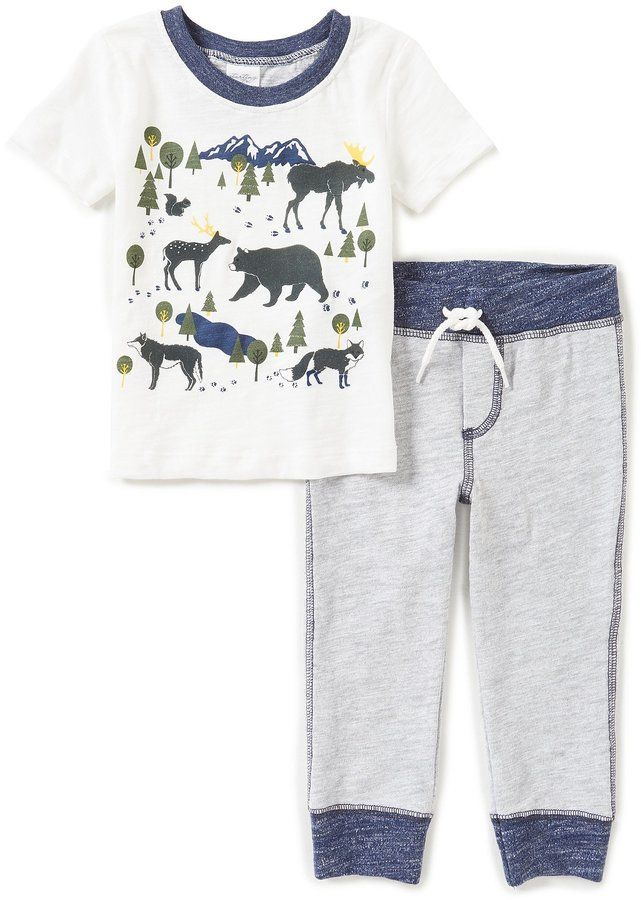 Starting Out Baby Boys 12-24 Months Animal-Print Top & Pants Set