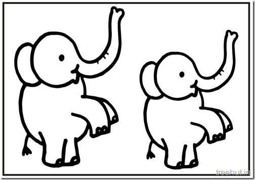 cute baby elephant printablecoloring pages 5 - Cute Baby Elephant Coloring Pages