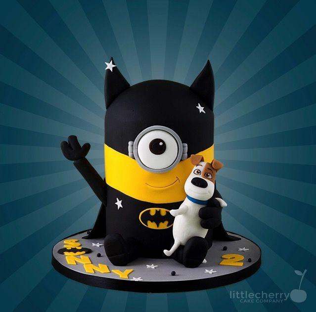 Wonderful Batman Minion 2nd Birthday Cake made by Little Cherry Cake Company