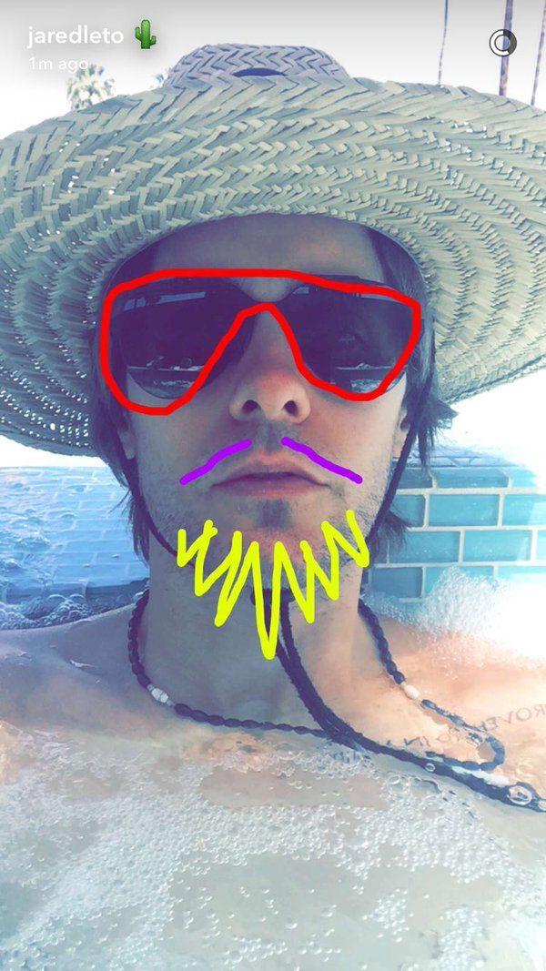Jared Leto snapchat 15/04/2016 Coachella