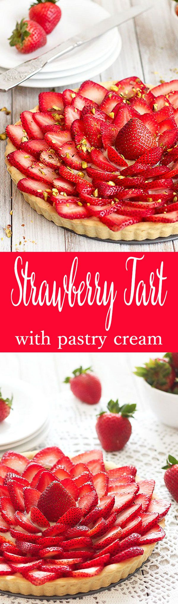 "A ""pasta frolla"" shell filled with a silky-smooth lemon pastry cream and topped with juicy strawberries"