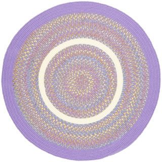 Kids Place Indoor / Outdoor Reversible Round Braided Rug by Rhody Rug, 4 ft Round - 4' | Overstock.com Shopping - The Best Deals on Round/Oval/Square