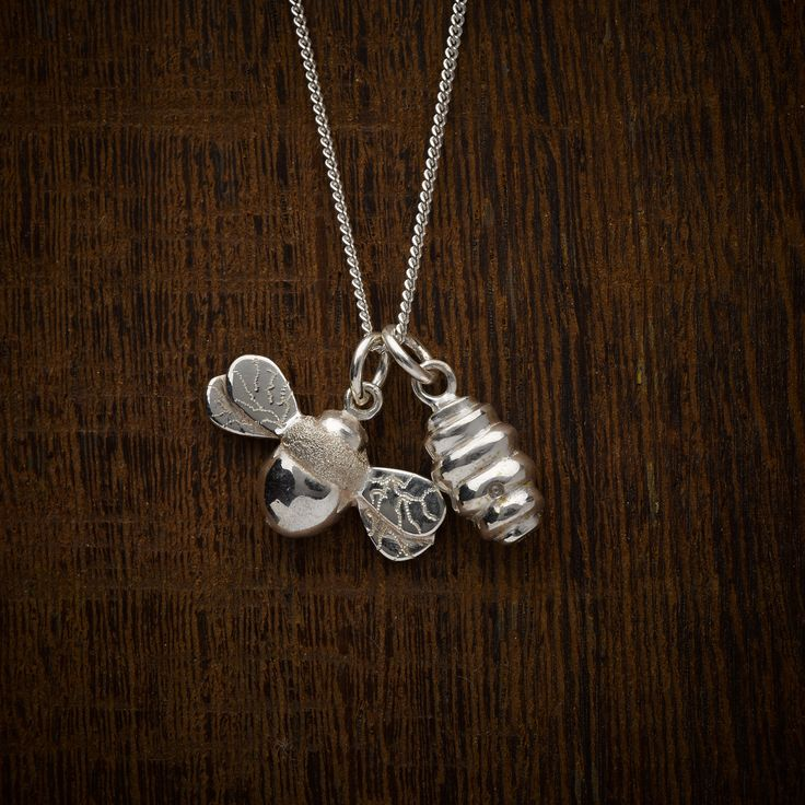 Sterling silver been and hive pendant