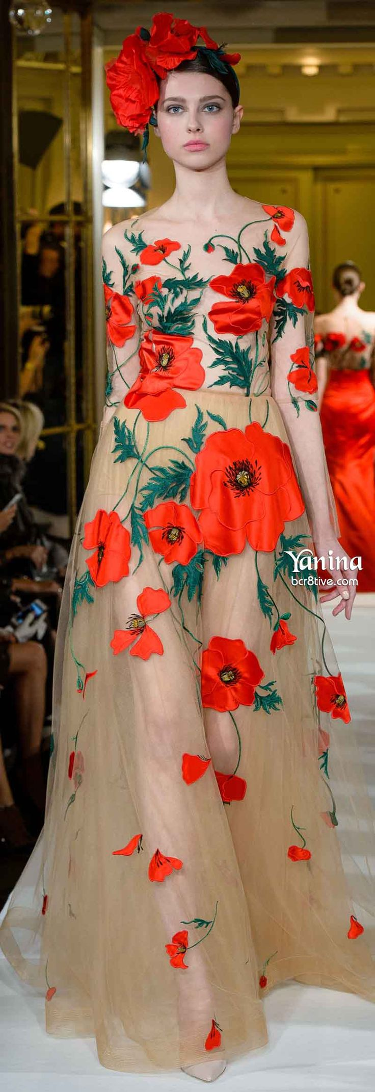 Poppies kiyomi! Poppies! Yanina Spring 2014 Couture| LBV ♥✤ | KeepSmiling | BeStayBeautiful~*~PM
