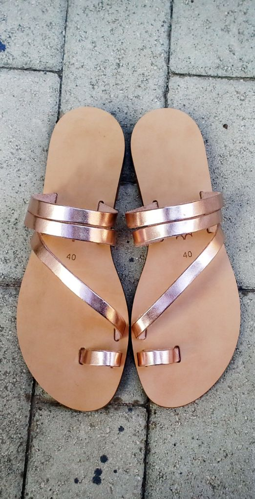 I love gold and rose gold in my shoes and accessories. I also like stripy sandals *as long as* they don't have an ankle strap (I have short legs, and those cut them off).