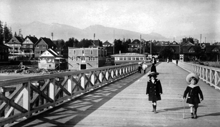 The Pier at English Bay, 1905  Source: Photo by Philip T Timms, City of Vancouver Archives #677-227