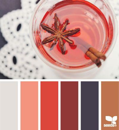 Cozy winter wedding color palette