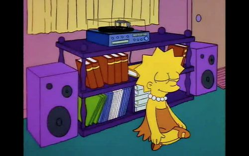Lisa gets lost in the music