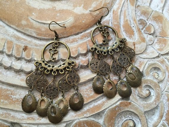 Antiqued Brass Gypsy Hardwear dangle charm and by nateahstudios