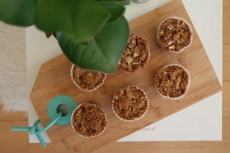 Ontbijtmuffins met havermout en peer / breakfast muffins with pear and oatmeel