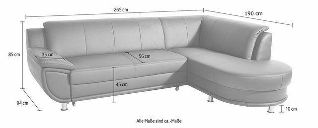 Ecksofa Wahlweise Mit Bettfunktion In 2020 Corner Sofa Modern Sleeper Sofa Modern Sofa