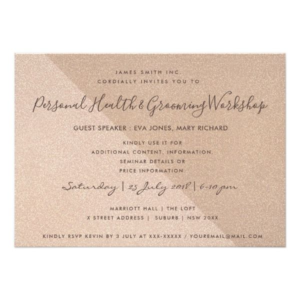 Triangle rose gold glitter seminar workshop event card custom triangle rose gold glitter seminar workshop event card custom office party invitations office partyplanning stopboris Choice Image