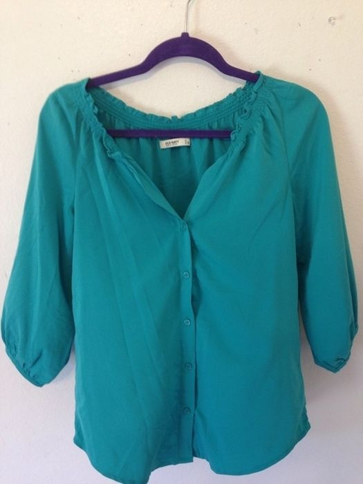 Item: Blue green old navy blouse