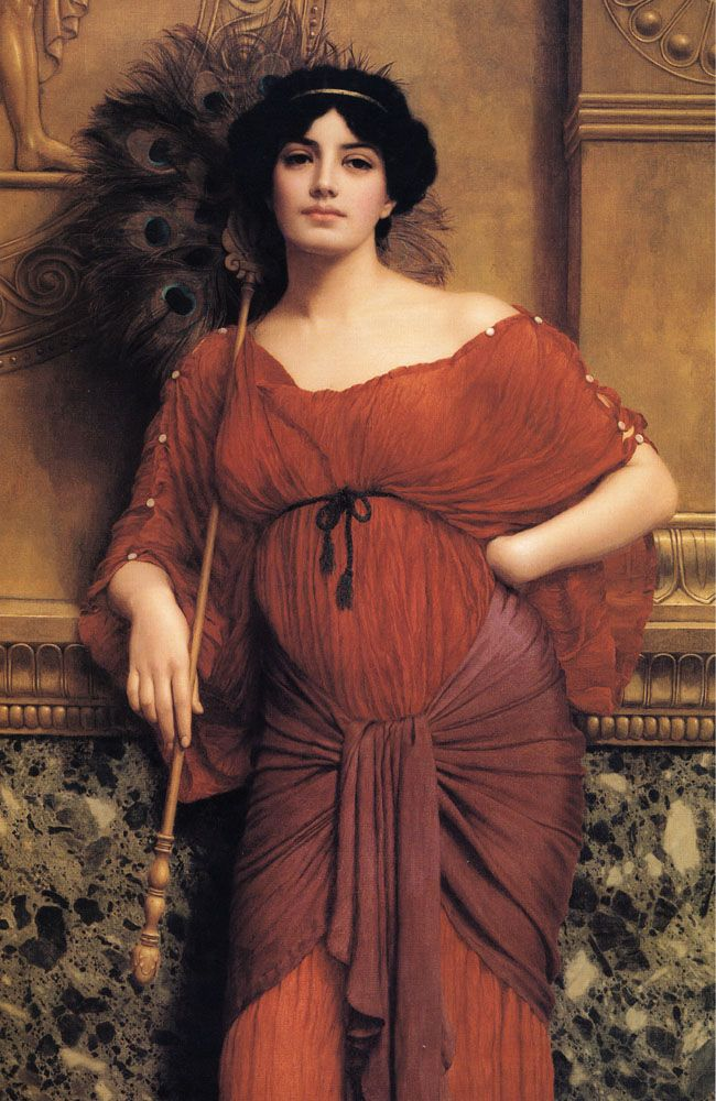 Une matrone romaine - John William Godward (1861-1922)
