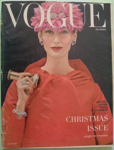 1955: Vogue, 1955 Years, Scassi Wear, 1955 December, December Christmas, Vintagefashion Magazines, Magazines Covers, 1950S Fashion, 1955 The Years