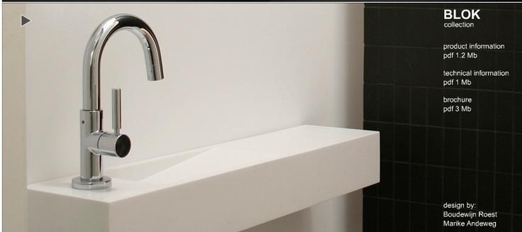 Skinny Sink : very narrow sink. handy! marike.com Marike - BLOK Collection Basins ...