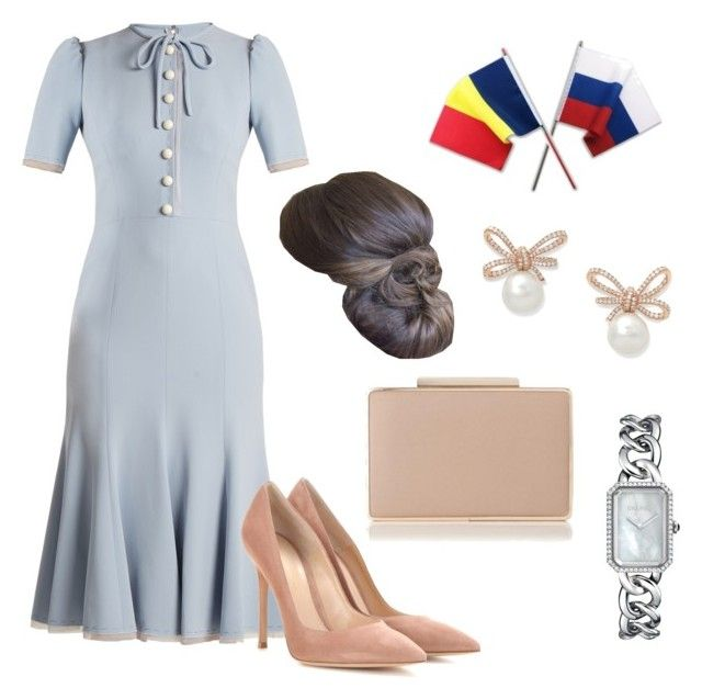 Brunch at the Romanian Embassy in Moscow by dresslikearoyal on Polyvore featuring polyvore fashion style Dolce&Gabbana Gianvito Rossi L.K.Bennett Chanel clothing