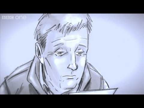 What about Brian? What happens to Rory's dad when they don't come back.Well, evidently a scene was scripted and never shot that would have wrapped up Brian's end of the story. Because the BBC are awesome, they've decided to create this scene in storyboard form and even brought back Arthur Darvill to read a letter as Rory, in a scene mirrored by Amy's letter to the Doctor. The scene was written by Chris Chibnall, who introduced Brian and wrote both episodes featuring him, and it's a very…