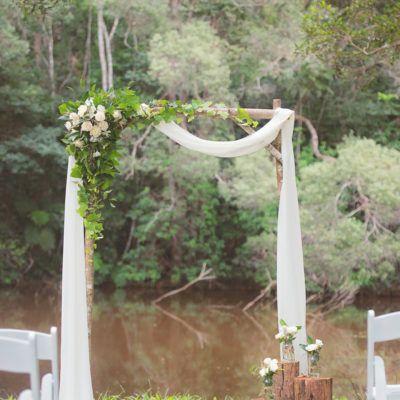 Woodland Arbour - Port Douglas Wedding Arch Hire