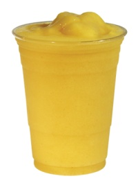 Our Passion Smoothie has a tropical blend of passion fruit and non-fat yogurt.