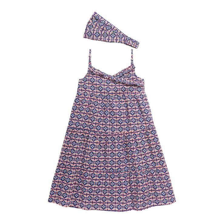 Sergent Major vous propose cette Robe bain de soleil Fille Bleu pour les 8 à 14 ans du thème Escale azur de la collection Eté