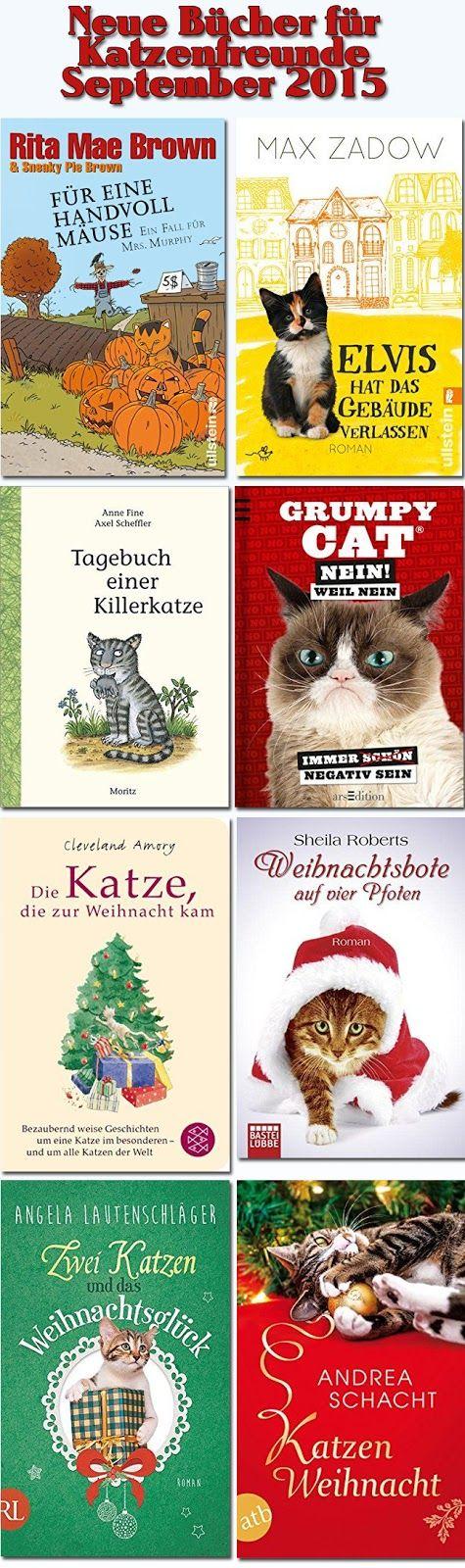Katzenbücher, Erscheinungstermin September 2015. Ein neuer Katzenroman von Rita Mae Brown, Grumpy Cat-Merchandise und die ersten Weihnachtsbücher