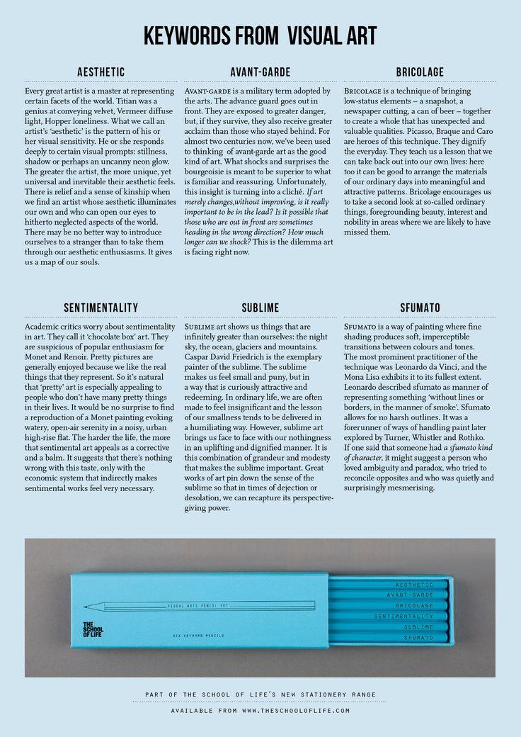 The Visual Arts Pencil Set | The School of Life