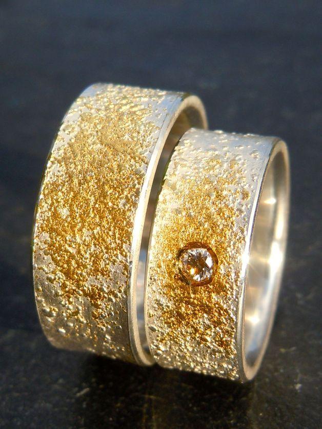 Trauringe - Eheringe~Trauringe *STARDUST-TWO*Silber,Gold - ein Designerstück von Marluna bei DaWanda