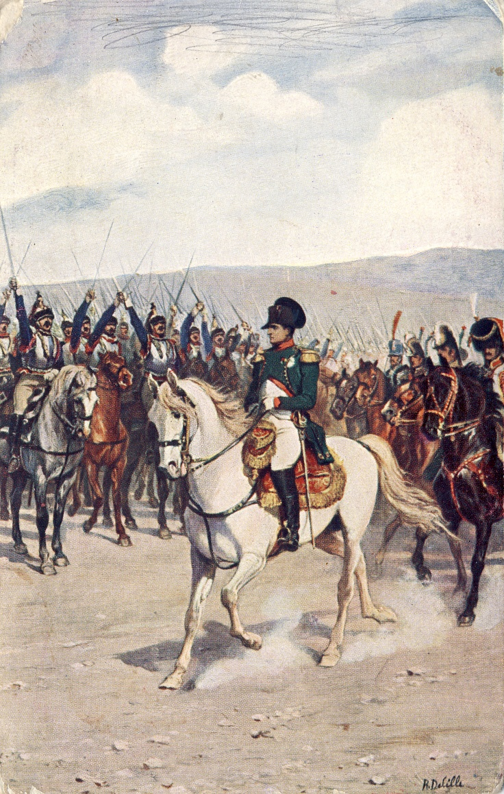 Napoleon handling his troops and preparing for the Battle of Waterloo after returning to Paris