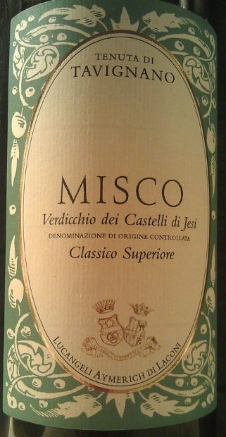 2010 Tenuta di Tavignano Verdicchio dei Castelli di Jesi Classico Misco. En alldeles utmärkt Verdicchio för kanonpriset DKK 85 hos www.carlomerolli.dk