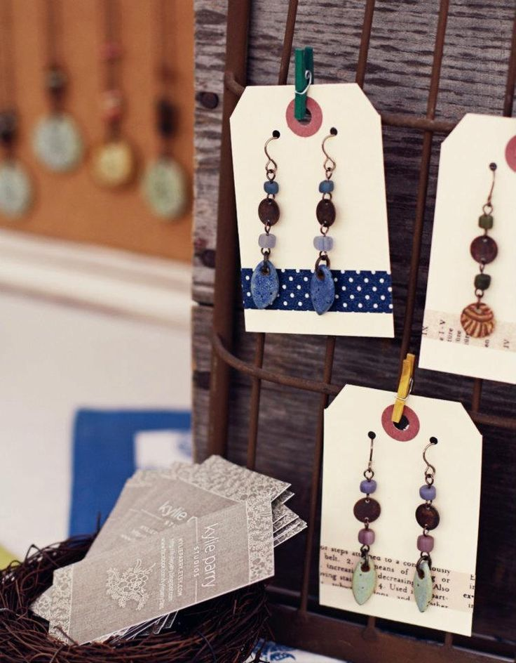 Kyle Perry Pottery - I love her earring cards. <3