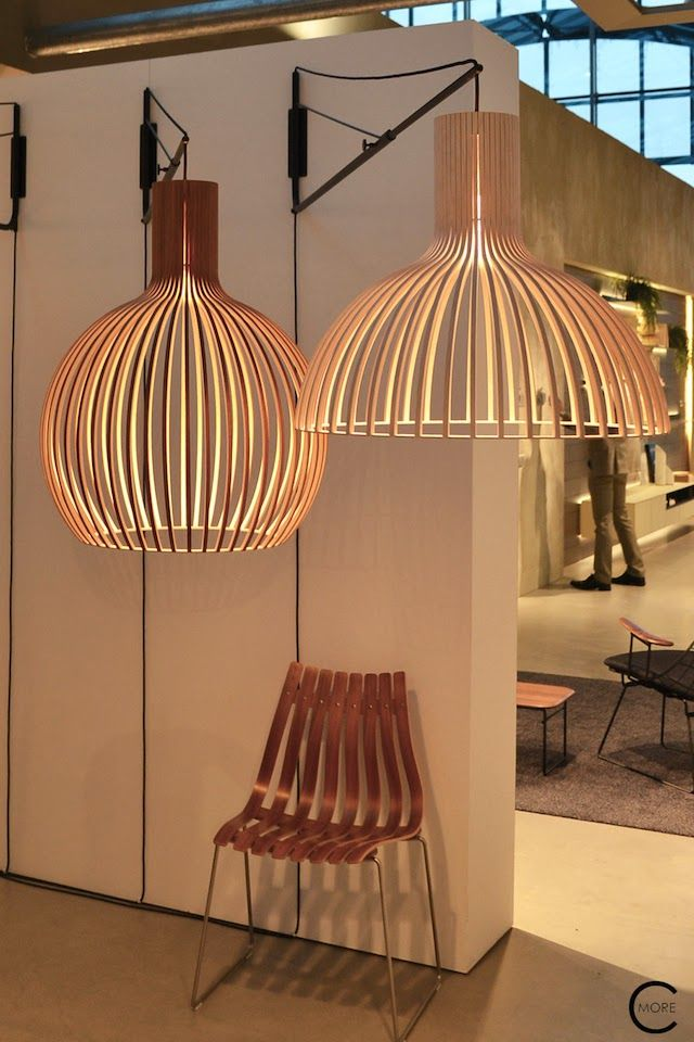 Lighting fixtures by Secto at Design Post Koln spotted by C-More interiorblog at IMM Cologne 2015 C-More |design + interieur + trends + prognose + concept + advies + ontwerp + cursus + workshops
